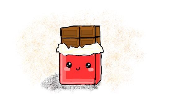 Chocolate drawing by coconut