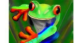 Frog drawing by Sirak Fish