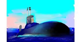 Submarine drawing by Rose rocket