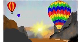 Drawing of Hot air balloon by SAM AKA MARGARET 🙄