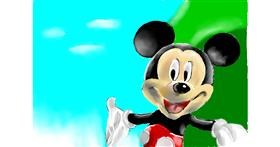 Drawing of Mickey Mouse by Jac