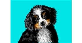Dog drawing by Kira