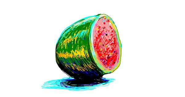 Watermelon drawing by TheKroner