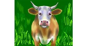 Drawing of Bull by Cec