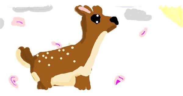 Deer drawing by Emmaisnotintresetedand