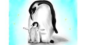Drawing of Penguin by Wizard