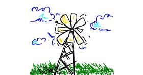 Windmill drawing by DaDoodler