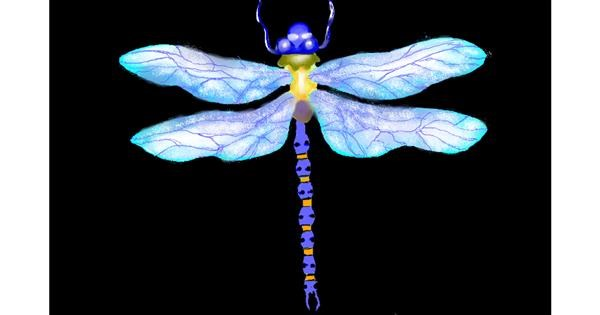 Dragonfly drawing by GJP