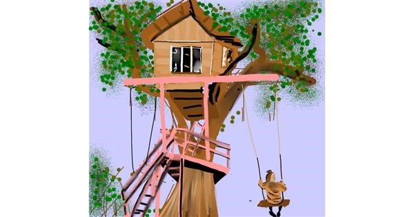Treehouse drawing by Rose