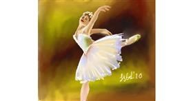 Ballerina drawing by Iris