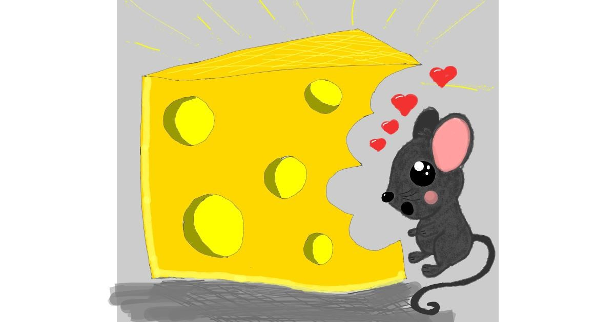 Drawing of Cheese by Zerous 👩🎤