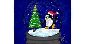 Snow globe drawing by Nonuvyrbiznis