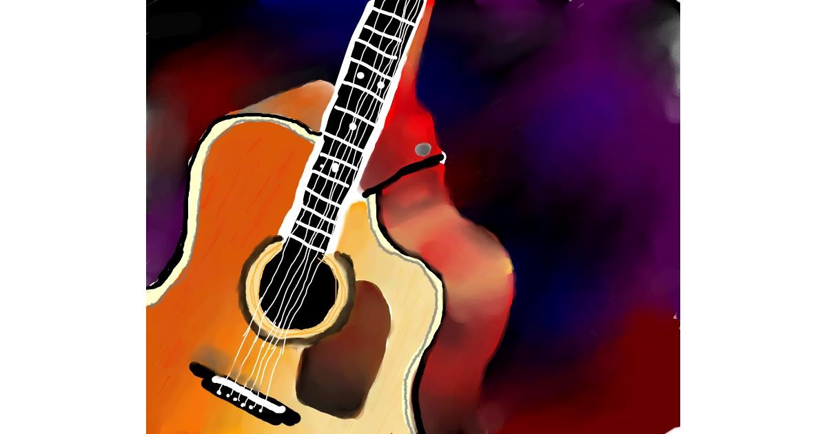 Guitar drawing by Autumn