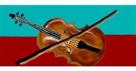 Drawing of Violin by Debidolittle