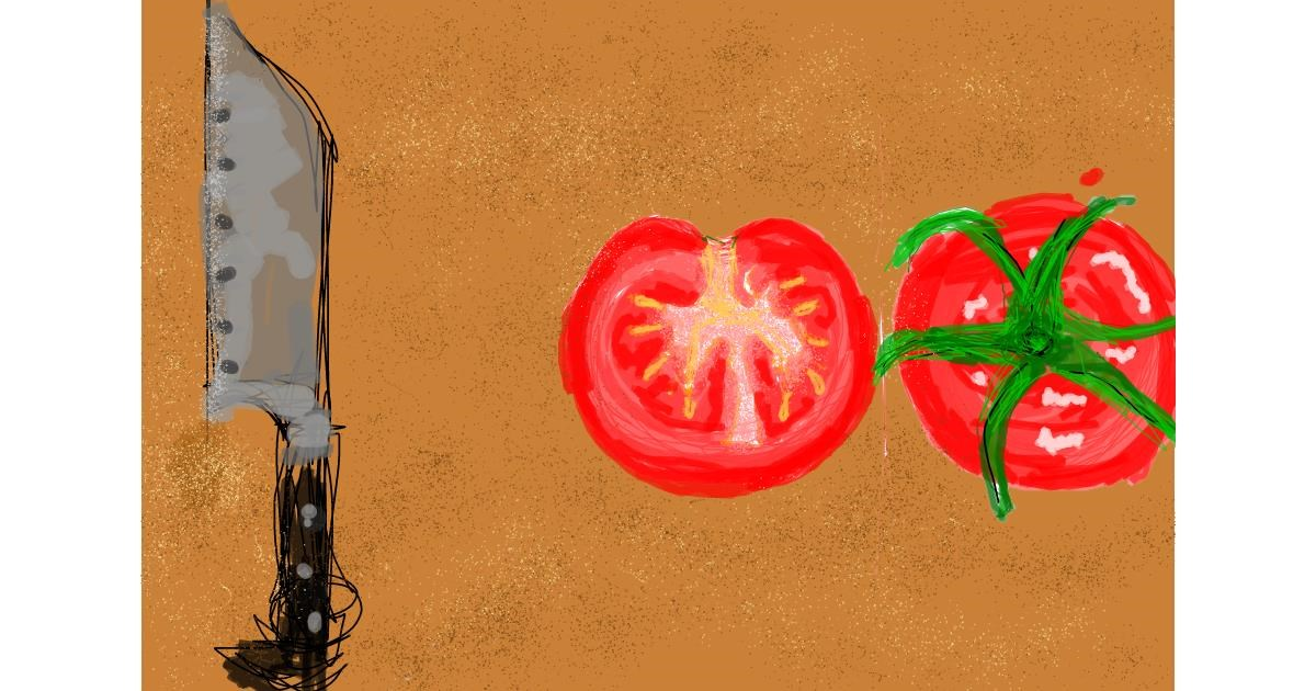 Tomato drawing by Nof9