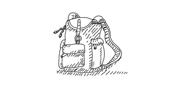 Backpack drawing by lin