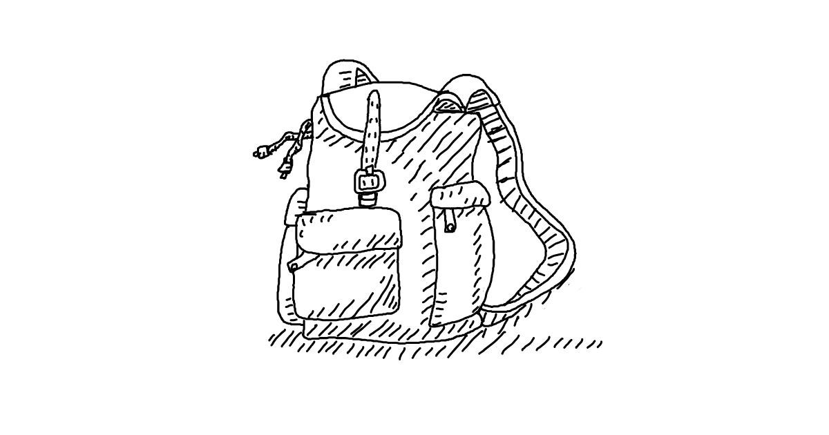 Drawing of Backpack by lin