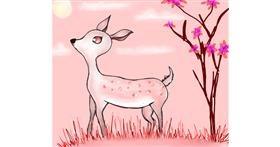 Drawing of Deer by Shalinee