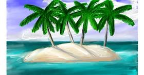 Drawing of Island by Soaring Sunshine