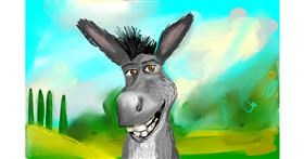 Donkey drawing by Rose rocket