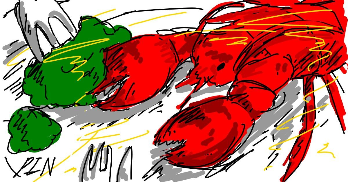 Drawing of Lobster by PIN