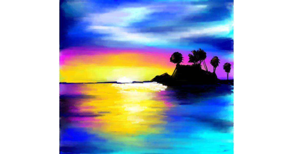 Island drawing by 🌏rhythm💐