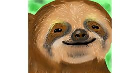 Drawing of Sloth by Joze