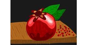 Pomegranate drawing by Bigoldmanwithglasses