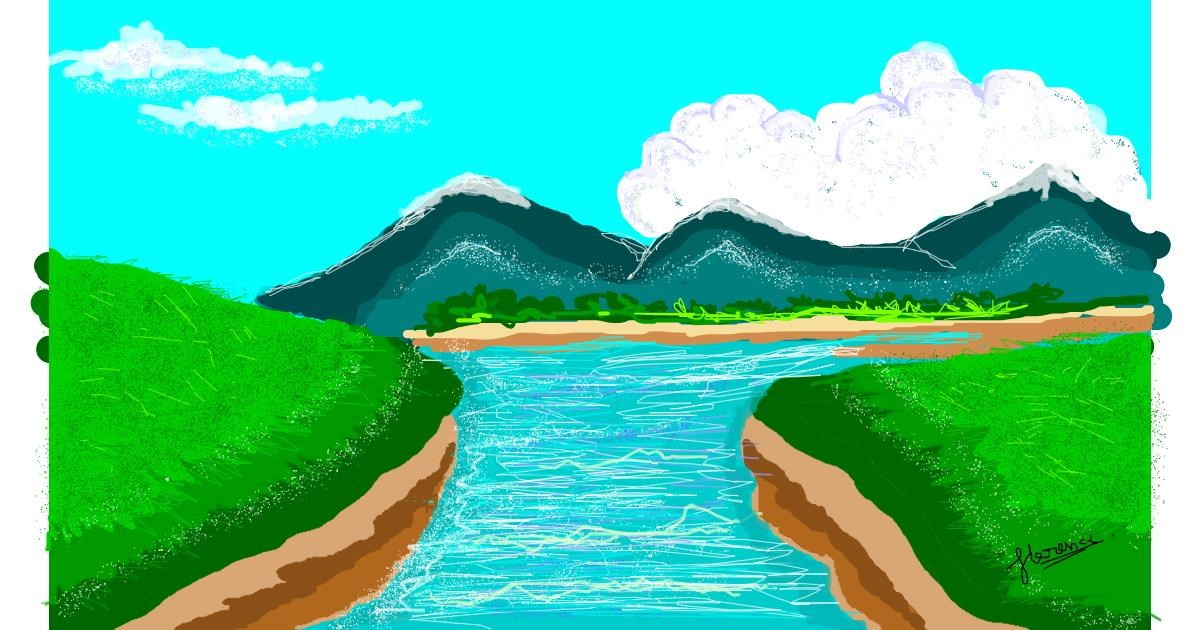 River Drawing By Coca Cola Draw And Guess Gallery