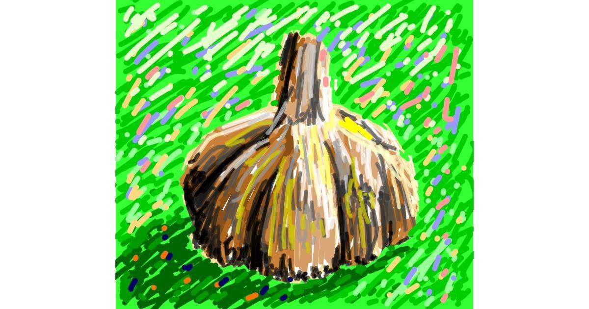 Garlic drawing by Sam