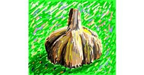 Garlic drawing by Sam