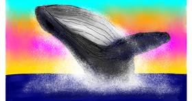 Drawing of Whale by ELLE