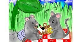 Picnic drawing by Boomer