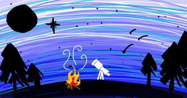 Telescope drawing by ☀︎julieann☀︎