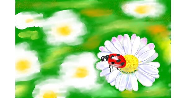 Ladybug drawing by GJP
