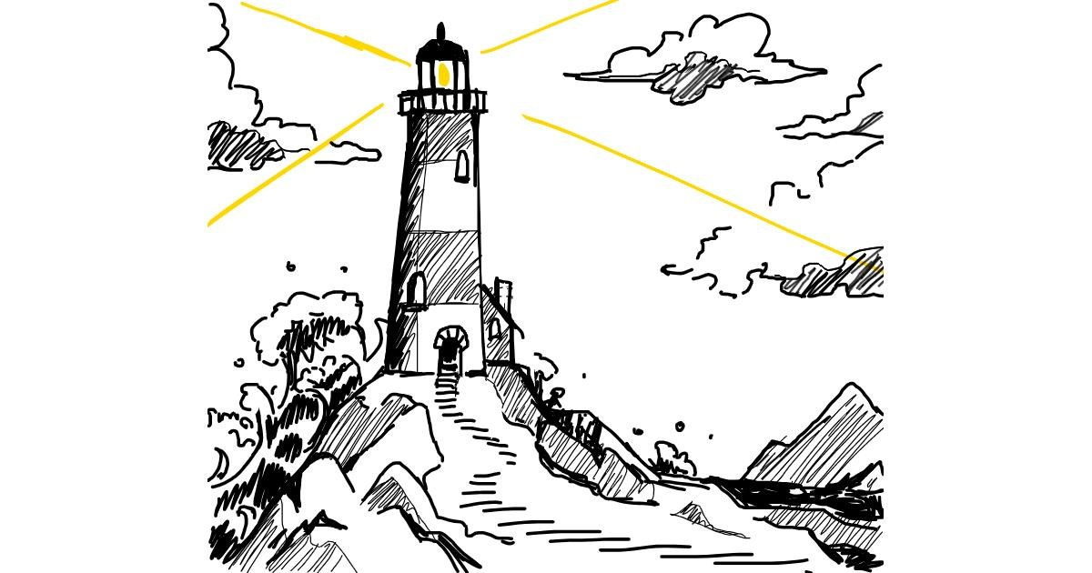 Drawing of Lighthouse by Anna