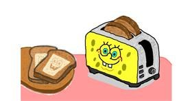 Toaster drawing by InessaC