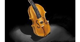 Drawing of Violin by Tim