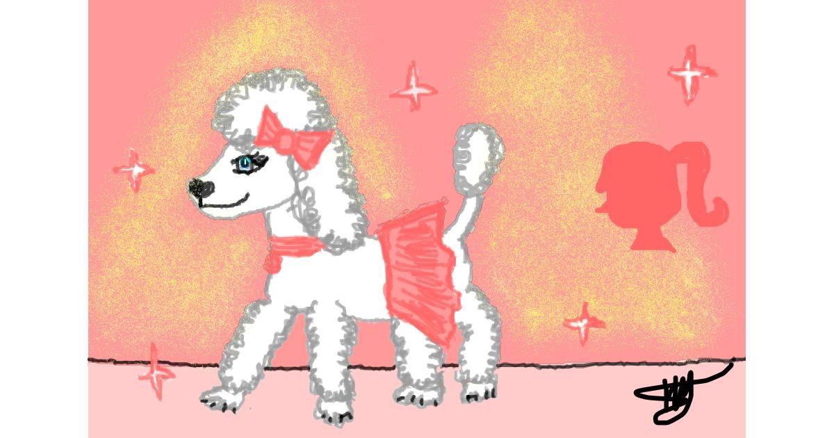 Poodle drawing by Ingrid