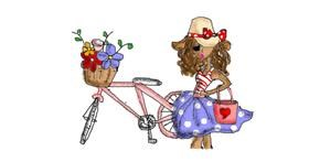 Bicycle drawing by Anastasia