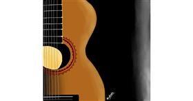 Drawing of Guitar by Bishakha
