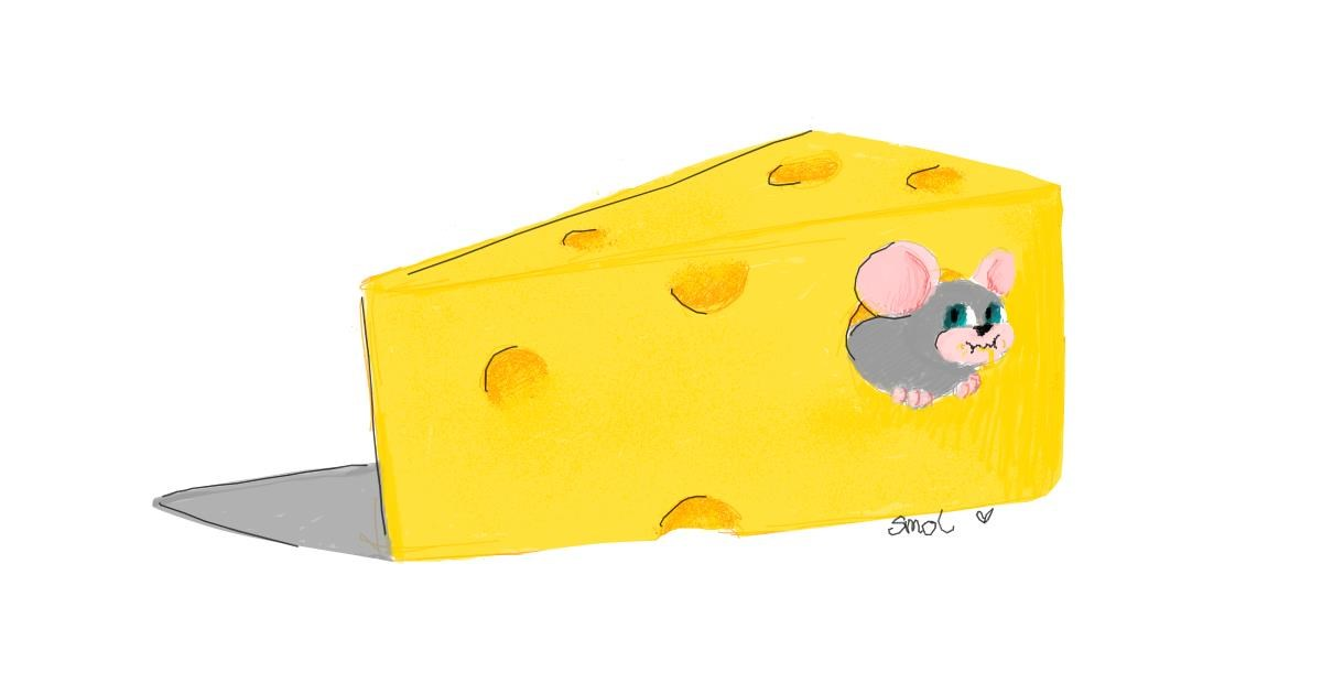 Drawing of Cheese by smol