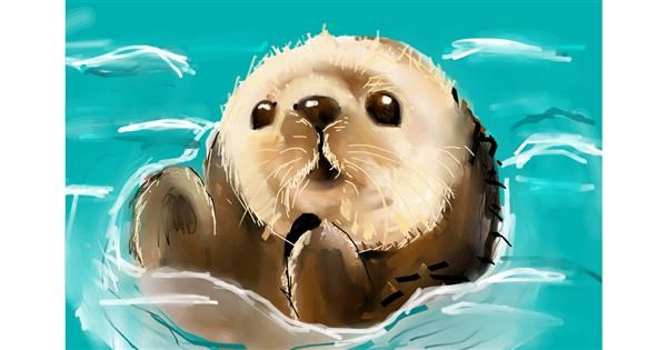 Otter drawing by (luna lovegood)