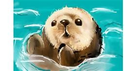 Otter drawing by (luna lovegood)