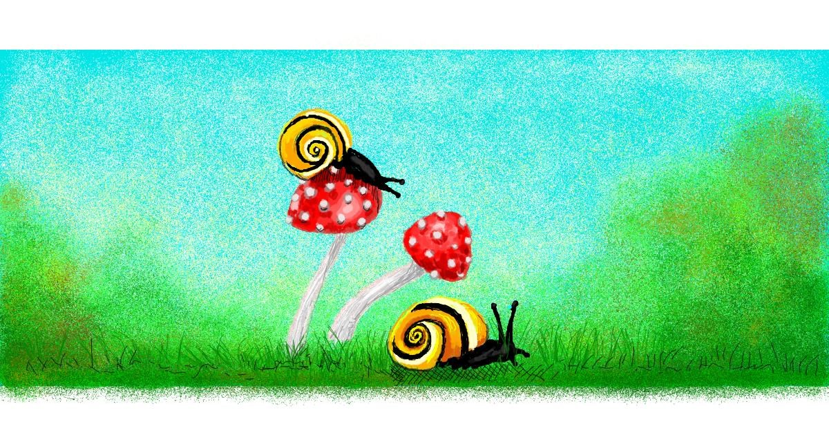 Snail drawing by Helena