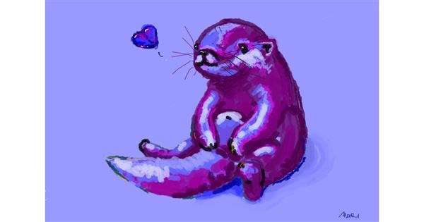 Otter drawing by ❀𝓜𝓪𝓻𝓲❀