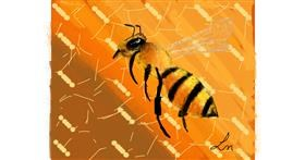 Bee drawing by Nonuvyrbiznis