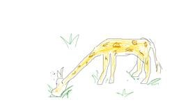 Giraffe drawing by Marina🥃