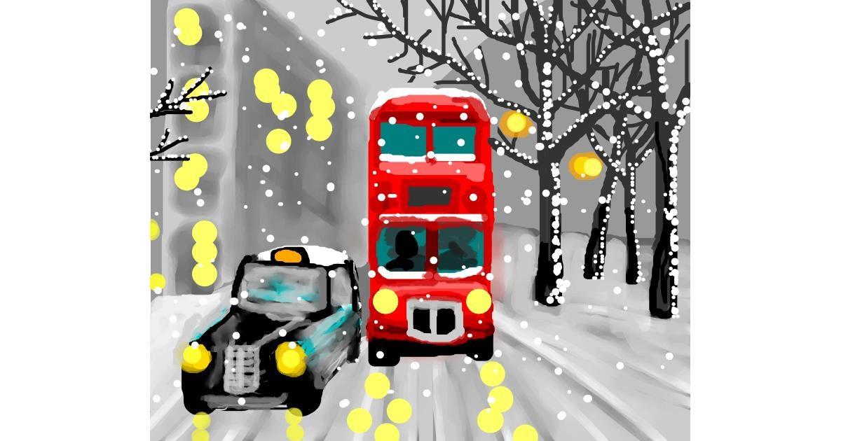 Bus drawing by Sirak Fish