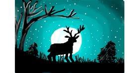 Deer drawing by elsa